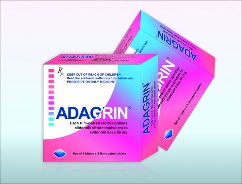 các loại thuốc cường dương 3 - Adagrin 50mg