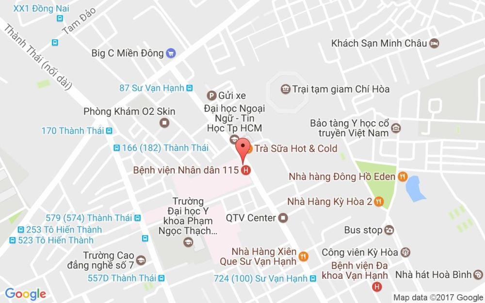 bản đồ đến bệnh viện 115 - bệnh viện 115 nằm ở đâu, ở đường nào
