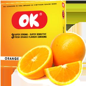Bao cao su OK hương cam