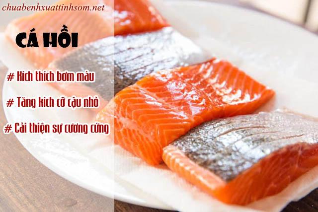Cá hồi là một trong những thực phẩm giúp tăng kích thước cậu nhỏ