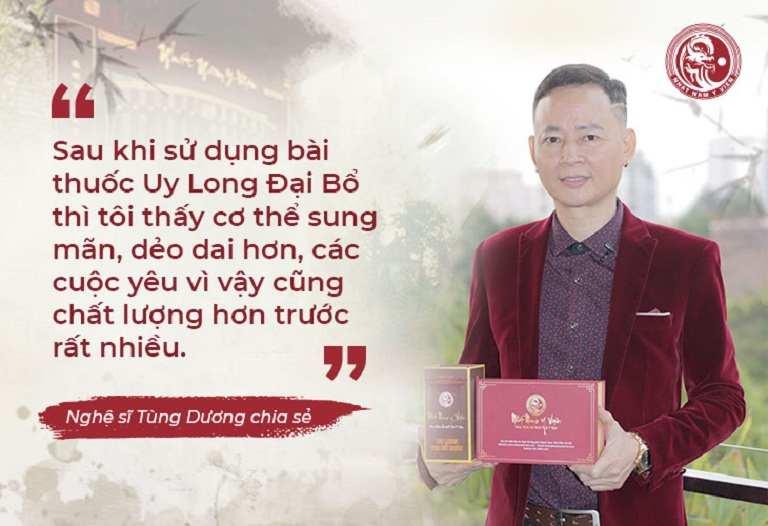 Nghệ sĩ Tùng Dương chia sẻ cảm nhận sau khi dùng thuốc